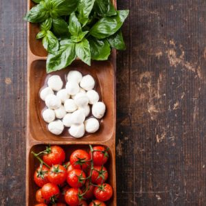 Classic tomato salsa with basil
