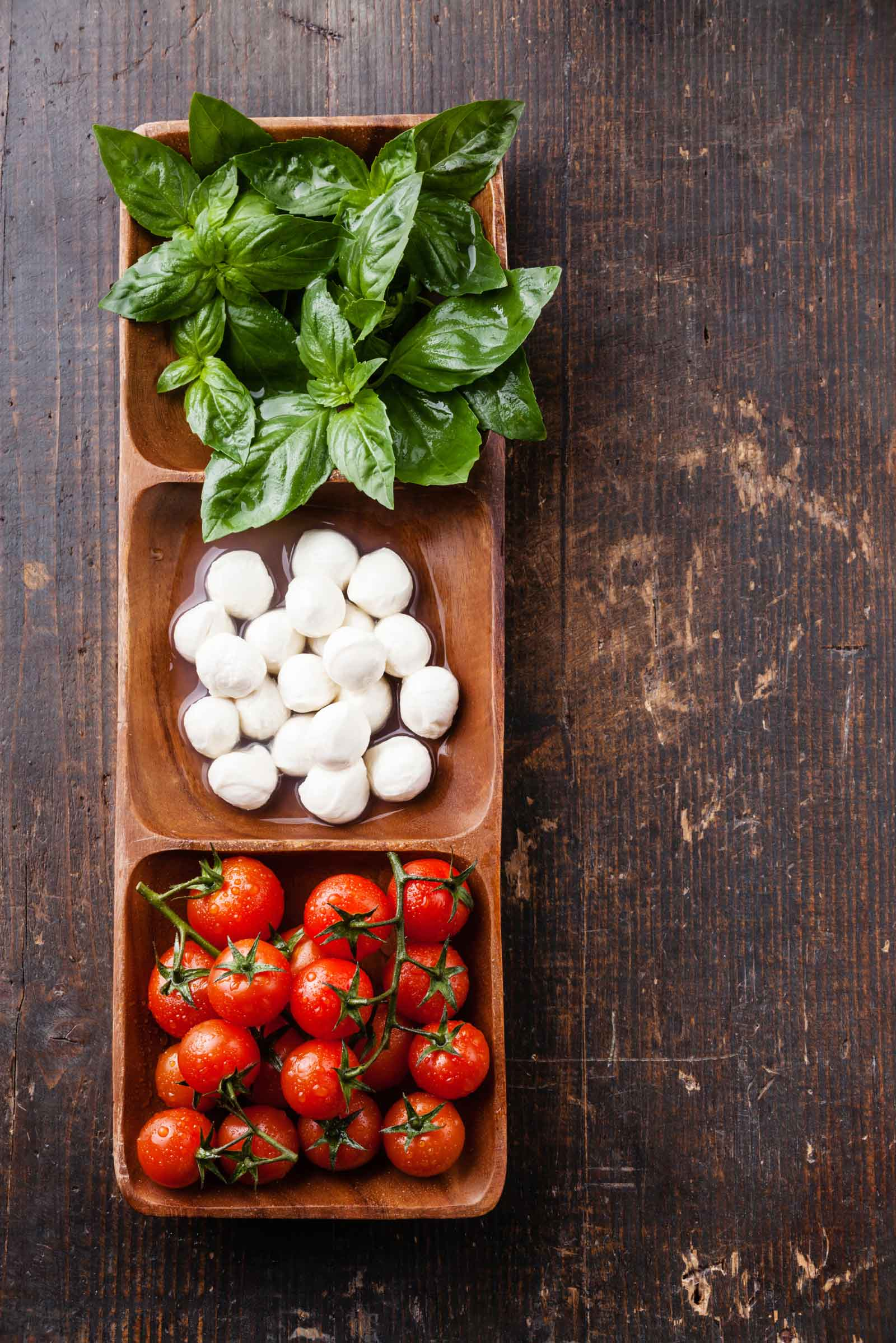 Classic tomato salsa with basil