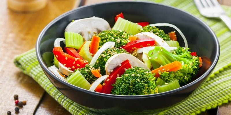Raw Vegetables for healthy breakfast