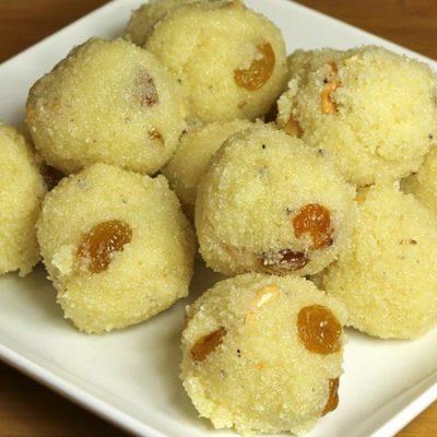Coconut Rava Laddu