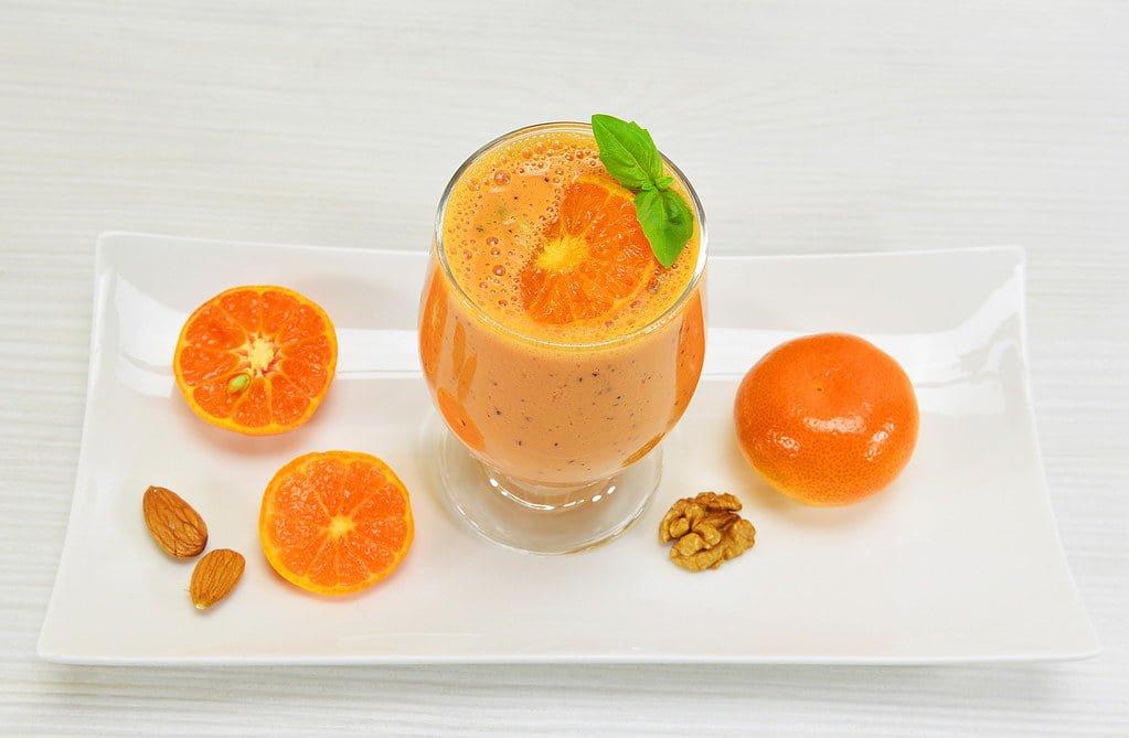 Orange Almond Milk Smoothie